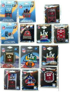 Buccaneers Super Bowl LV Champions Pin Choice SB 55 pins Tampa Bay Bucs Brady