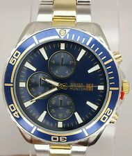 Swiss hunter two tone men's wrist watch