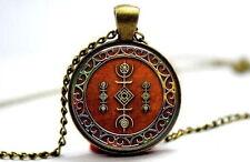 Druid Sigil of the Cosmos - Bronze Tone Photo Glass Dome Necklace Pendant