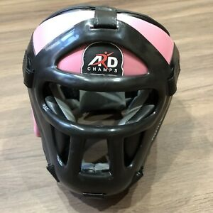 AGP Champs MMA Martial Arts Sparring Boxing Headgear & Facemask AD-HGP-39 Pink M