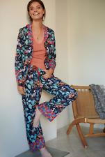 Anthropologie Rachel Grant Feathered Friends Flannel Pajama Sleep Pants Lounge L