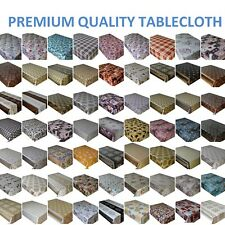 PVC WIPE CLEAN OILCLOTH VINYL TABLECLOTH  TABLE COVER PROTECTOR LOTS OF DESIGN