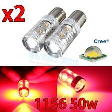 2x rouge projecteur led 50W S25 1156 Ba15s cree voiture brake stop tail lamp ampoule