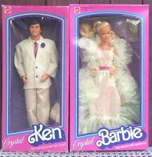 Crystal Barbie Doll & Ken Doll Vintage 1983 Classic NRFB No. 4598 No. 4898