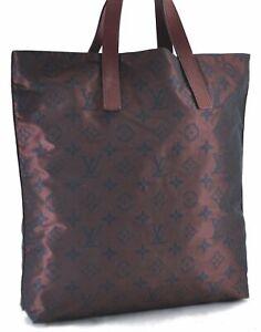Authentic Louis Vuitton Cabas Escapade Tote Bag Bordeaux M56710 LV D2152