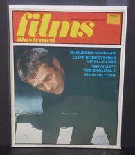 Steve McQueen cove Films illustrated magazine 1973 cliff robertson Elvis Presley