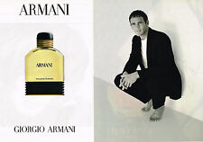 PUBLICITE ADVERTISING 094  1996  GIORGIO ARMANI  parfum homme ( 2 pages)