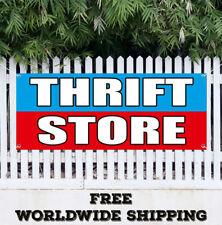 Banner Vinyl Thrift Store Advertising Sign Flag Resale Shop Clothes Furniture