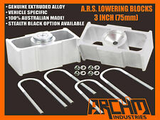 "HOLDEN HR HK HT HG 3"" INCH (75mm) LOWERING BLOCKS (ALL MODELS)"