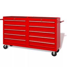 Carrello Porta attrezzi utensili portautensili carrello officina con 10 cassetti