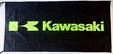 KAWASAKI FLAG BLACK - SIZE 150x75cm (5x2.5 ft) - BRAND NEW