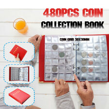 480 Pocket 20 Page Storage Book Commemorative Penny Coin Collection Album Holder