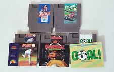 Amazing Nintendo NES Sports Game Lot Baseball GOAL Pro Am Ice Hockey