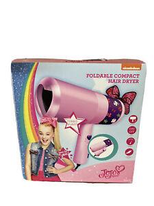 Nickelodeon JoJo Siwa Foldable Turbo Blast Compact Hair Blow Dryer New In Box