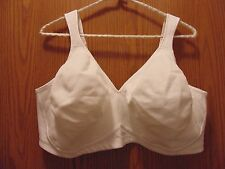Playtex 18 Hour Brand New size 46 DD  Wire free Bra Solid White Style # 4049