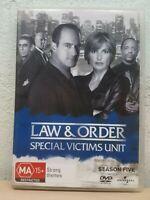 Law & Order SVU Special Victims Unit - Season 5 DVD 2 4 5 PAL zones