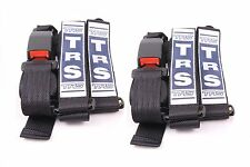 PAIR of Black TRS Seat Belts - Ideal for Kit, Race, Rally, Sports Cars - INT0035
