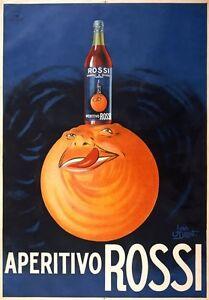 Vintage Drinks Poster Aperitivo Rossi Italian Aperitif Advertisement Print AZ32