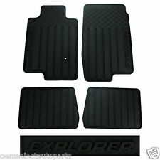 OEM NEW 2007-2010 Ford Explorer All-Weather Vinyl Floor Mats Rubber Catch-All