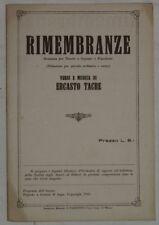 ERCASTO TACRE RIMEMBRANZE SPARTITI MUSICA ORCHESTRA