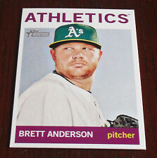 2013 Topps Heritage High Number On line exclusive Brett Anderson Athletics