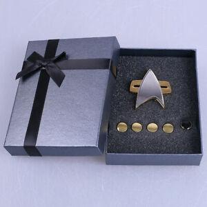 Star Trek Badge Voyager Communicator Pin Rank Pips Pin A Set of 6 Brooches