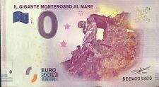 BILLET 0 ZERO EURO SOUVENIR IL GIGANTE MONTEROSSO AL MARE 2017-1 N° SP 3800