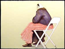 """Ed Singer """"Woman In Chair"""" Hand Signed Artwork Lithograph, Make Offer!"""