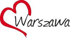 "Auto pegatinas ""representada"" sticker Varsovia ciudad Polonia aprox. 9x16cm konturgeschn."
