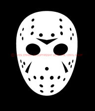 Mask only Jason Voorhees Friday The 13th Halloween Scary Horror decal sticker