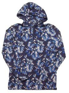 Polo Ralph Lauren Big & Tall Men's Blue Tonal Floral Print Jersey Hooded T-Shirt