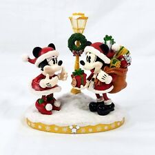Disney Parks Mickey Minnie Santa Christmas Light Up Figure New Good Tidings