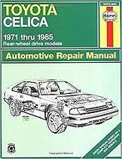 Toyota Celica rear-wheel drive (71 - 85) - Repair manual Haynes