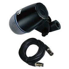 JTS TX-2 Dynamic Supercardioid Bass Amp Kick Drum Wired Microphone +XLR Mic Lead