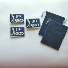 Miller Lite Beer 1985 Quad City Open Golf Tournament 3 Belt Buckles Lt Ed Number