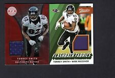 2012 Totally Certified Red #64 & 2017 Classics #35 Jersey Torrey Smith B91B 970