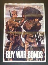 1940 WW2 USA AMERICA BUY WAR LOAN BONDS ARMY SOLDIER TRUCK GUN PROPAGANDA POSTER