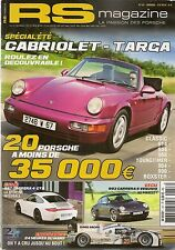 RS MAGAZINE 157 2014 24H DU MANS PORSCHE 997 C4 GTS DOSSIER TARGA & CABRIOLET