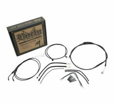 "12"" Handlebar Extended Cable Kit Black For Harley-Davidson Sportster 2007-2013"