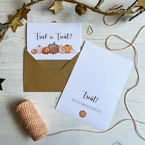 HALLOWEEN SURPRISE PREGNANCY ANNOUNCEMENT REVEAL CARDS / BOO EXPECTING BABY GIFT