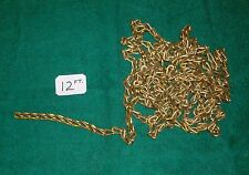 12 Ft. of Solid BRASS CHAIN--Boat--Decoy--Bait Bucket-Dog-c
