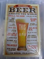 How To Order A Beer Tin Retro Metal Sign Painted Poster Wall Art Garage Shop Pub
