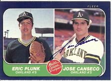 Jose Canseco Signed Autographed Baseball Card 1986 Fleer RC Rookie GX19543