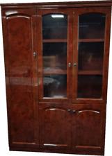 Gloss Walnut Executive 6847A Executive Bookcase Cabinet 1360mm wide