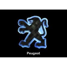 LED Car Tail Logo White Light Auto Badge Emblem Lamp For Peugeot 206 308 406 508