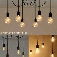 Vintage Pendant Ceiling Shade Industrial Chandelier Spider Lamp New Light L K8W0