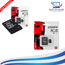 8GB CLASS 4 KINGSTON MICRO SD SDHC MEMORY CARD MOBILE PHONE WITH SD ADAPTER