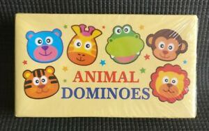 Animal Wooden Dominoes Age 3-7 NEW & SEALED