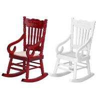 1/12 Dollhouse Miniature Furniture White Decor Rocking Chair Dolls House Toys❤gr