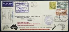 "Australia + New Zealand 1934 Sign by Killed Pilot ""Ulm"" Flight Airmail Cover !"